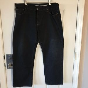Structure Slim Straight Black Jeans ~ Size 38x30